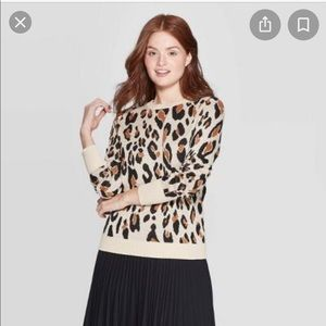 2 for $20 A NEW DAY Cheetah print knit sweater